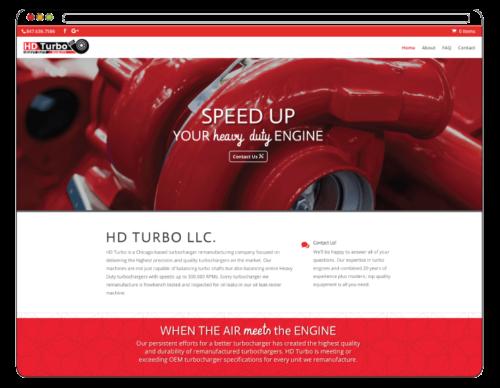 hdturbo.com, turbochargers website design by Angie Godlewska